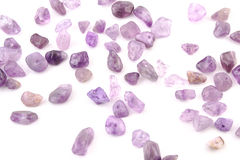 Amethyst natural crystals gem isolated on white background Royalty Free Stock Images