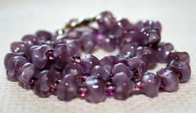 Amethyst Necklace Stock Photo