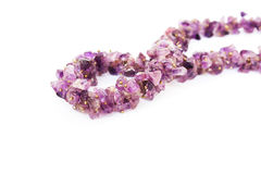 Amethyst necklace Royalty Free Stock Photo