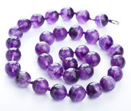 Amethyst necklace Stock Photos