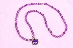 Amethyst necklace Stock Images