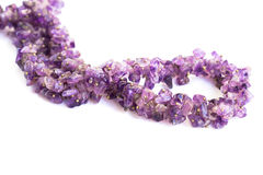 Amethyst necklace Royalty Free Stock Image