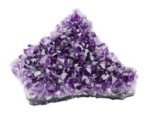 Amethyst over White Background Royalty Free Stock Photography