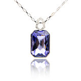 Amethyst pendant isolated on white Royalty Free Stock Photography