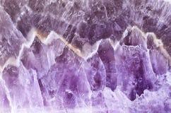 Amethyst polished violet texture Stock Images