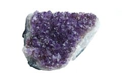 Amethyst precious stone Stock Photos
