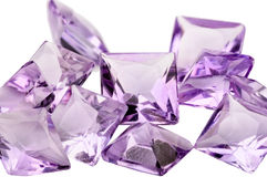 Amethyst princess cut Stock Photography