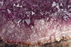 Amethyst quartz. Detail purple amethyst quartz, macro Royalty Free Stock Photo