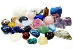 Amethyst quartz garnet sodalite agate geological crystals Royalty Free Stock Photos