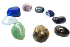 Amethyst quartz garnet sodalite agate geological crystals Stock Photography