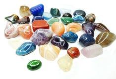 Amethyst quartz garnet sodalite agate geological crystals Stock Photos