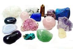 Amethyst quartz garnet sodalite agate geological crystals Royalty Free Stock Photography