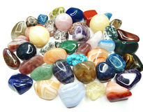 Amethyst quartz garnet sodalite agate geological crystals Stock Image