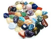 Amethyst quartz garnet sodalite agate geological crystals Stock Images