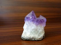 Amethyst Quartz Gem Crystal Stock Image