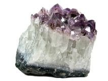 Amethyst quartz geode geological crystals Royalty Free Stock Photo