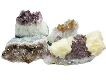 Amethyst quartz geode geological crystals Stock Photos