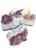Amethyst quartz geode geological crystals Royalty Free Stock Photography