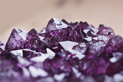 Amethyst quartz. Macro a purple amethyst quartz, mineral stock image