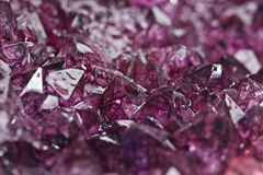 Amethyst quartz. Mineral purple amethyst quartz macro Stock Photography