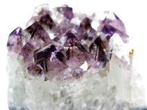Amethyst Quarz geode geologische Kristalle lizenzfreies stockfoto