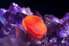 amethyst red för agate Royaltyfri Fotografi