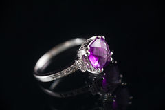 Amethyst ring Stock Photo