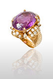 Amethyst ring Royalty Free Stock Photography