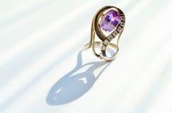 Amethyst ring Stock Image