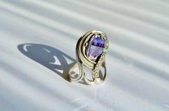 Amethyst ring Royalty Free Stock Image