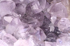 Amethyst rock close Stock Photography