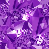 Amethyst. Seamless pattern. Precious stone, gemstone, mineral. Cluster crystal. Texture of layers and facets of stone. Geology min. Amethyst. Seamless pattern Vector Illustration