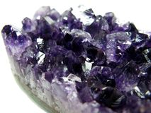 Amethyst semigem crystals geode Stock Photography