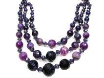Amethyst semiprecious crystals beads Royalty Free Stock Photography