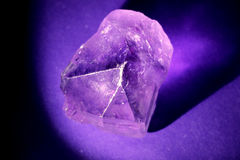 Amethyst Shadow Macro Stock Photo