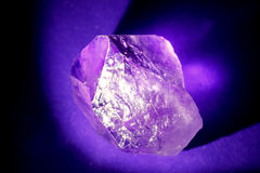 Amethyst Side View Stock Photo