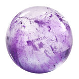 Amethyst sphere isolated. Over white Stock Photography