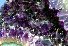Amethyst stone close up Stock Photography