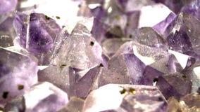 Amethyst stone stock footage