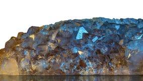 Amethyst Stone Stacked Image Isolate Macro Closeup stock photo