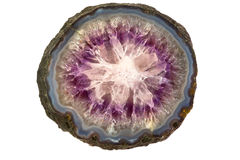Amethyst stone structure Royalty Free Stock Photography