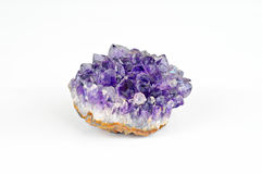 Amethyst stones; semiprecious stones Royalty Free Stock Photography