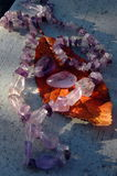 Amethyst. In the sun`s rays Stock Photo