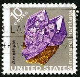 Amethyst US Postage Stamp Stock Image