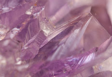 Amethyst is violet variety of quartz often used in jewelry Royalty Free Stock Images
