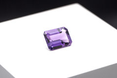 Amethyst. On a white background royalty free stock photo