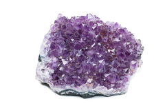 Amethyst on white isolated background Stock Images
