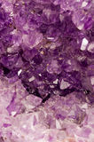 AMETHYST1. Macro shot of amethyst crystals Stock Image