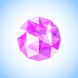 Ametista roxa realística dada forma gem Ilustração do vetor Imagens de Stock Royalty Free