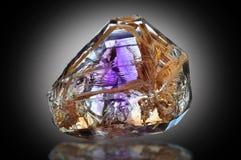 Ametistkristall Fotografering för Bildbyråer